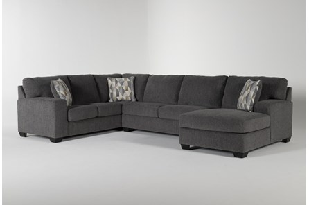 Bryton Charcoal 3 Piece Sectional With Right Arm Facing  Chaise - Main