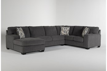 Bryton Charcoal 3 Piece Sectional With Left Arm Facing Chaise