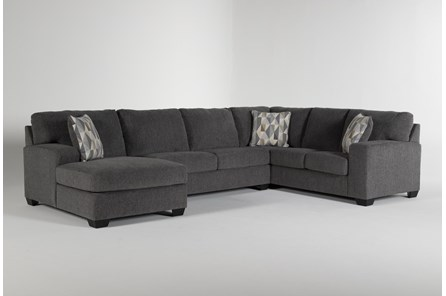 Bryton Charcoal 3 Piece Sectional With Left Arm Facing Chaise - Main