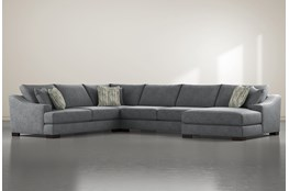 Lodge Charcoal 4 Piece Sectional With Right Arm Facing Chaise