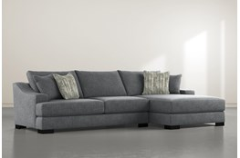 Lodge Charcoal 2 Piece Sectional With Right Arm Facing Chaise