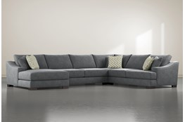Lodge Charcoal 4 Piece Sectional With Left Arm Facing Chaise