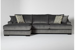 Lodge Charcoal 2 Piece Sectional With Left Arm Facing Chaise