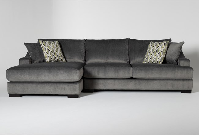 Lodge Charcoal 2 Piece Sectional With Left Arm Facing Chaise - 360