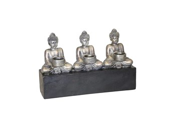 3-Sitting Buddha Candle Holder