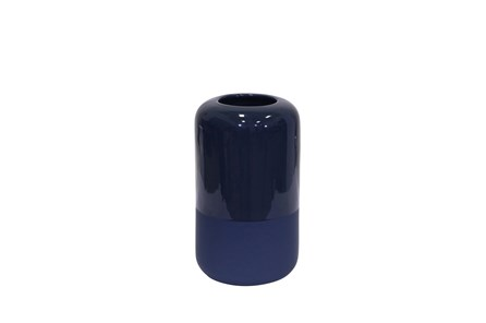 10 Inch Two Tone Navy Vase