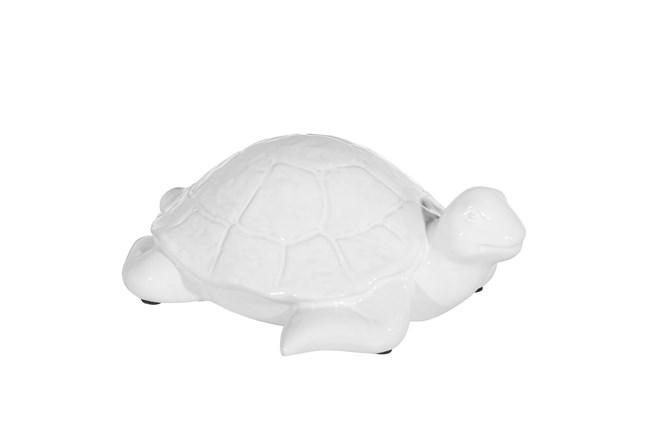 4 Inch White Ceramic Turtle  - 360