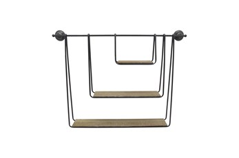 29 Inch 3-Tier Hanging Wall Shelf