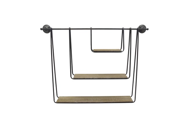 29 Inch 3-Tier Hanging Wall Shelf  - 360