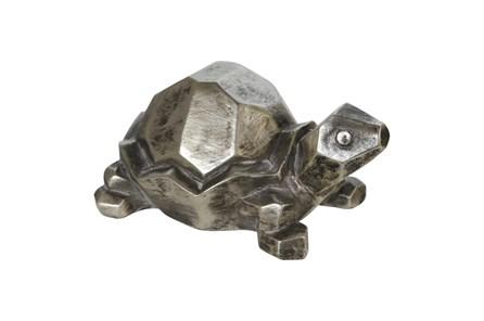4 Inch Silver Turtle Figurine - Main