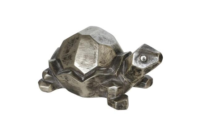 4 Inch Silver Turtle Figurine  - 360