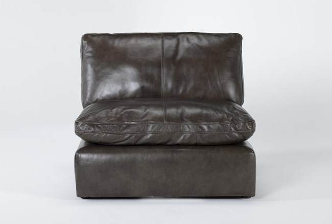 Marcello Leather Armless Chair - 360
