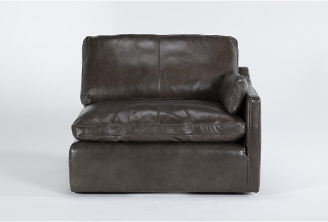 Marcello Leather Right Arm Facing Chair - 360