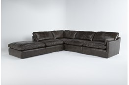 Marcello Leather 5 Piece Sectional With Right Arm Facing Chair
