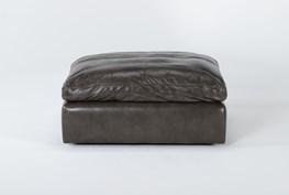 Marcello Leather Ottoman