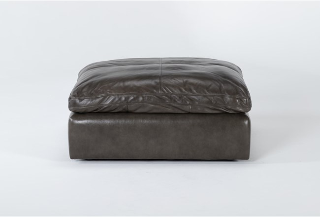 Marcello Leather Ottoman - 360