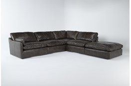 Marcello Leather 5 Piece Sectional With Left Arm Facing Chair
