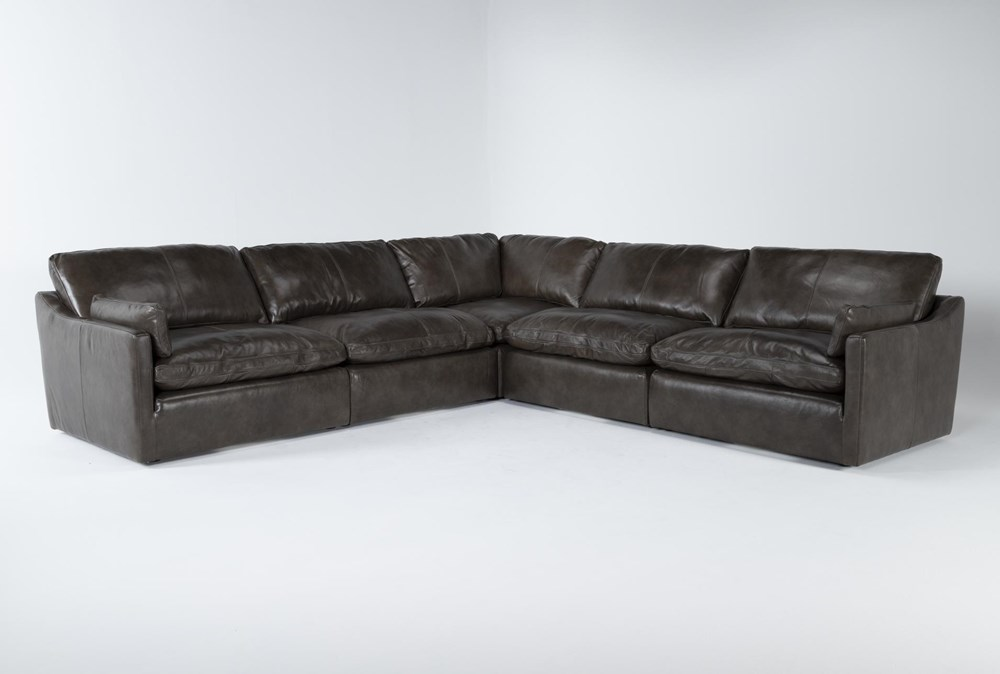 """Marcello Leather 5 Piece 127"""" Sectional"""