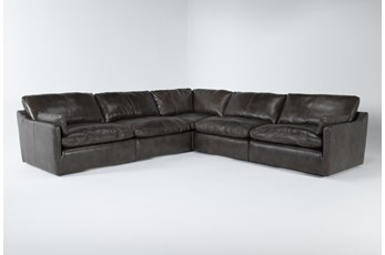 "Marcello Leather 5 Piece 127"" Sectional"