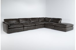 "Marcello Leather 6 Piece 168"" Sectional With Left Arm Facing Chair"