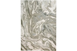 34X94 Rug-Marble Swirl Light Grey