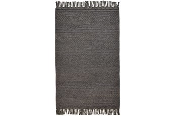 60X90 Rug-Textured Boho Slate/Grey
