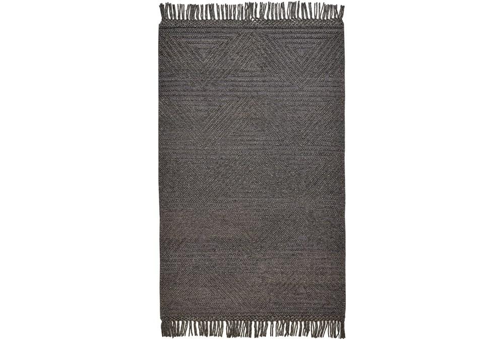 93X117 Rug-Textured Boho Slate/Grey