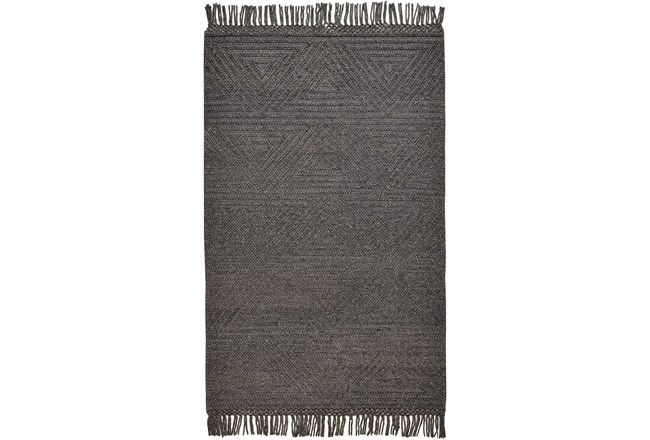 93X117 Rug-Textured Boho Slate/Grey - 360