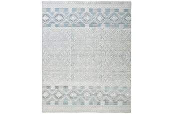 """5'5""""x8'5"""" Rug-Hand Knotted Wool Grey/Blue"""