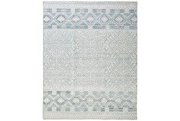 """7'8""""x9'8"""" Rug-Hand Knotted Wool Grey/Blue"""