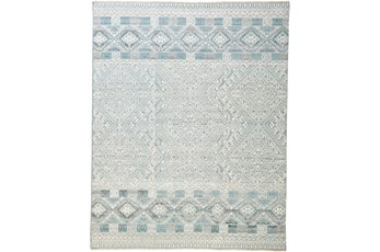 102X138 Rug-Hand Knotted Wool Grey/Blue
