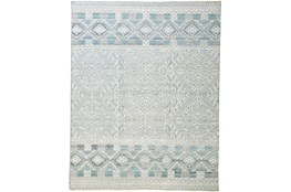 "2'5""x8' Rug-Hand Knotted Wool Grey/Blue"
