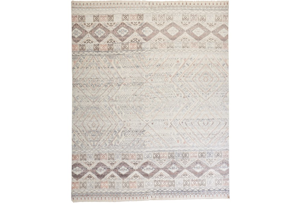 93X117 Rug-Hand Knotted Wool Blush/Ivory