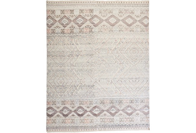 93X117 Rug-Hand Knotted Wool Blush/Ivory - 360
