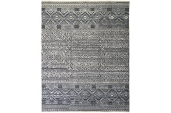 """3'5""""x5'5"""" Rug-Hand Knotted Wool Blue/Grey"""