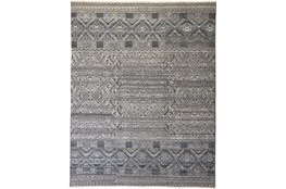 93X117 Rug-Hand Knotted Wool Blue/Grey