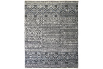 """8'5""""x11'5"""" Rug-Hand Knotted Wool Blue/Grey"""
