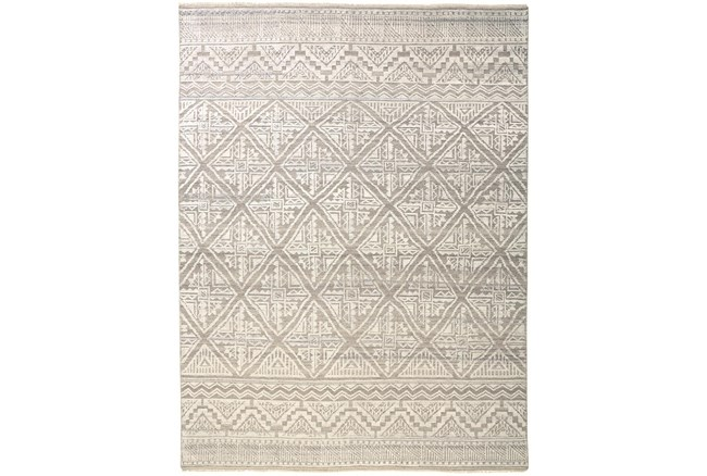 """7'8""""x9'8"""" Rug-Hand Knotted Wool Beige/Grey - 360"""