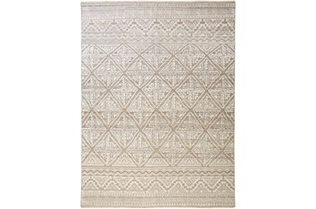 114X162 Rug-Hand Knotted Wool Beige/Grey