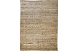 93X117 Rug-Hand Knotted Wool Brown/Grey