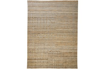 138X180 Rug-Hand Knotted Wool Brown/Grey