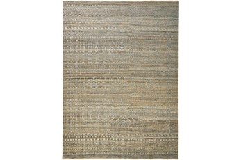 """2'5""""x8' Rug-Hand Knotted Wool Brown/Grey"""