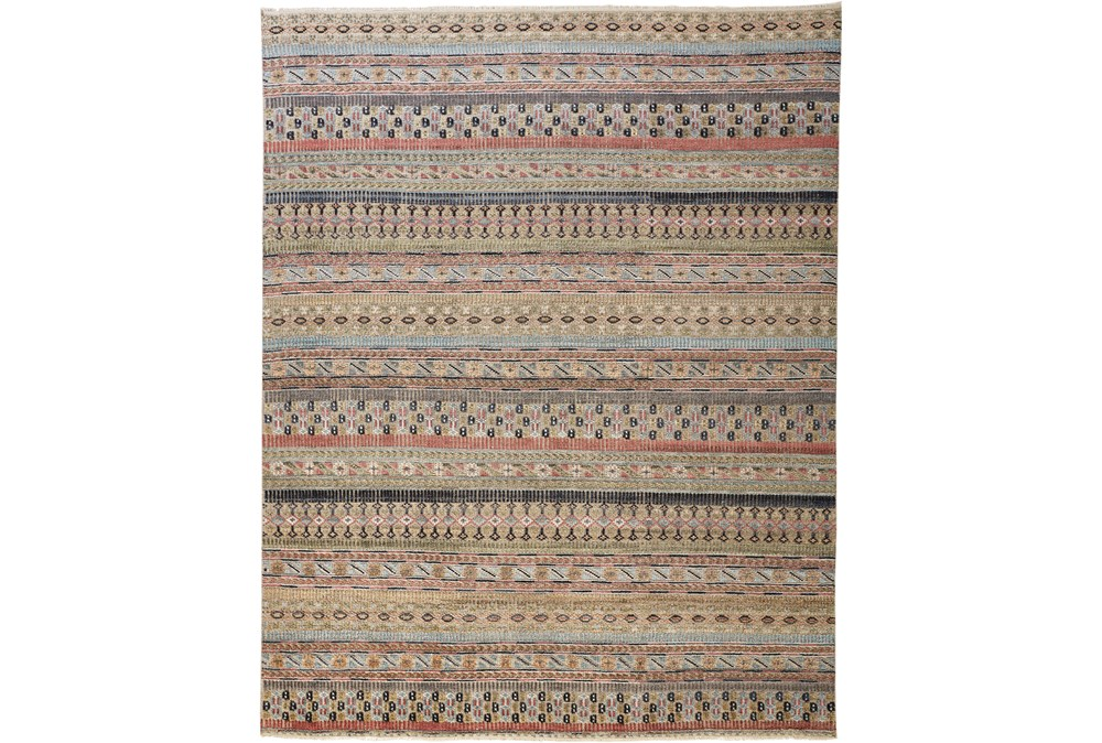 30X96 Rug-Hand Knotted Wool Pink/Multi