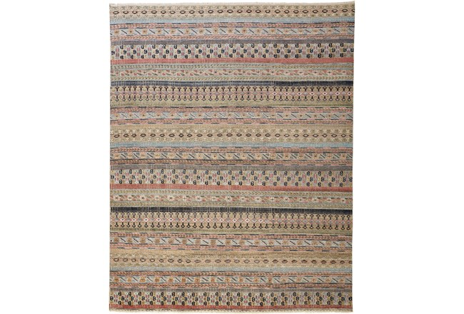 30X96 Rug-Hand Knotted Wool Pink/Multi - 360
