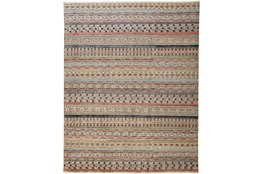 30X120 Rug-Hand Knotted Wool Pink/Multi