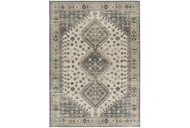 """3'9""""x5'4"""" Rug-Updated Traditional Beige/Grey"""