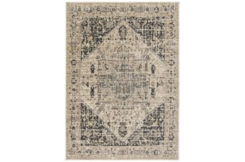 47X65 Rug-Faded Traditional Charcoal/Beige