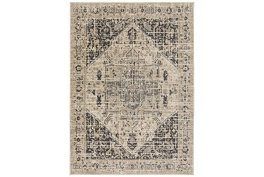 """3'9""""x5'4"""" Rug-Faded Traditional Charcoal/Beige"""