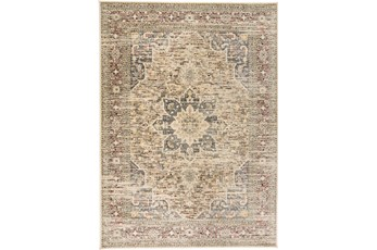 "4'9""x7'7"" Rug-Multi Traditional Medallion Beige"