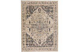 """4'9""""x7'7"""" Rug-Faded Traditional Charcoal/Beige"""